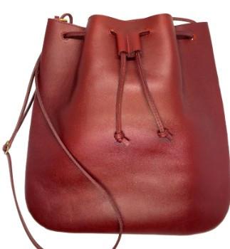 12x12 Oxblood Leather