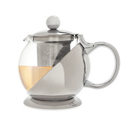 Shelby Stainless Steel Wrapped Teapot & Infuser