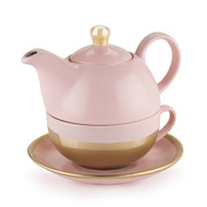 Addison Pink and Gold Tea Set for One