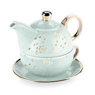 Addison Champagne Dots Tea for One