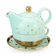 Addison Aqua Gold Dot Tea Set for On