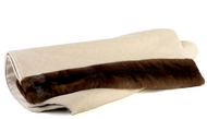 Brown Mink and Wool Bed Cover