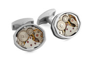 LIMITED EDITION - Skeleton Tonneau Cufflinks - Rhodium