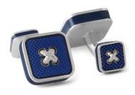 Blue Square Button Cufflinks