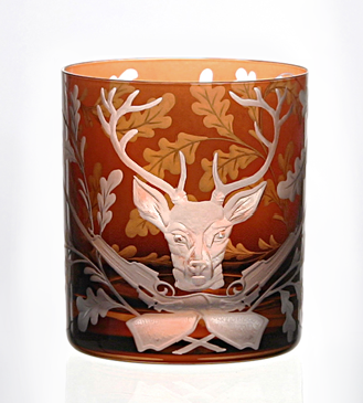 Forrest Folly Stag Tumbler - Mahogany