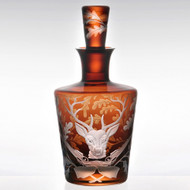 Forest Folly Decanter Stag - Mahogany