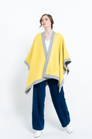 Yellow & Grey Double-Faced Wool