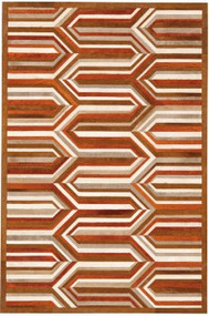 Area Rug Flume 4'x6' Orange/White