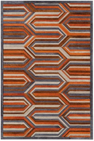 Area Rug Flume 4'x6' Orange/Blue