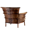 Navajo arm chair, special saddlemans hide - Back View