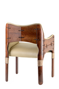 Tuvalu dining chair, Su natural - Back View