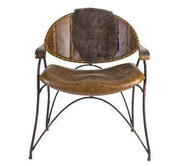 Verite bronze carver chair - front view
