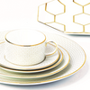 Arris 5 Piece Place Setting with Octagonal Charger