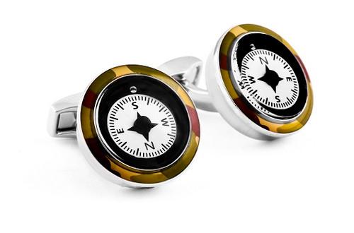 Camoflage Compass Cufflinks
