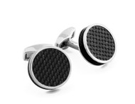 Carbon Tablet Black Cufflinks