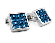 SW Interlock Square Blue Cufflinks