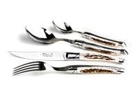 24 Piece set prestige range, deer horn handle
