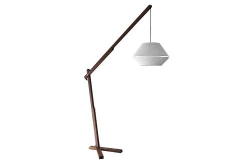 Oops Walnut Floor Lamp
