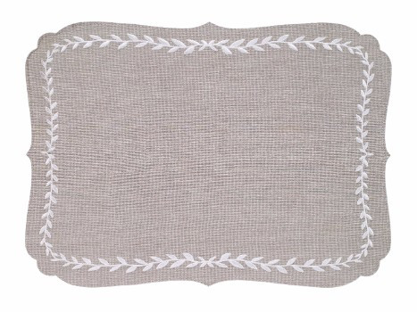 Laurel Mat - Oatmeal white