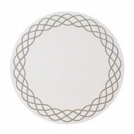 Helix Round Mat - White Silve