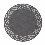 Helix Round Mat - Charcoal Silver