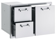 "Lynx 30"" Trash Center & Double Drawer Combo"