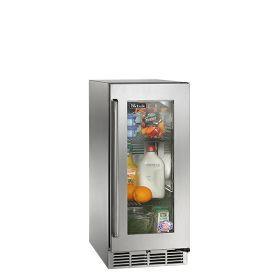 Perlick 15-Inch Signature Series Outdoor Refrigerator w/ Fully Integrated Glass Door (PR-HP15RO-4)