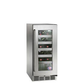 Perlick 15-Inch Signature Series Outdoor Wine Reserve w/ Fully Integrated Glass Door