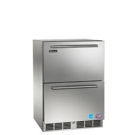 Perlick 24-Inch Signature Series Outdoor Freezer w/ Fully Integrated SS Drawers (PR-HP24FO-6)