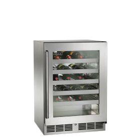 Perlick 24-Inch Signature Series Outdoor Wine Reserve w/ SS Glass Door Door (PR-HP24WO-3)