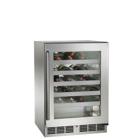 Perlick 24-Inch Signature Series Outdoor Wine Reserve w/ Fully Integrated Glass Door (PR-HP24WO-4)