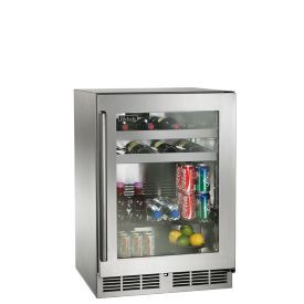 Perlick 24-Inch Signature Series Outdoor Beverage Center w/ Fully Integrated Glass Door (PR-HP24BO-4)