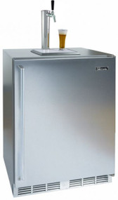 Perlick 24-Inch Signature Series Outdoor Beer Dispenser (1 Tap, Fully Integrated Door) (PR-HP24TO-2)