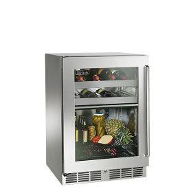 Perlick 24-Inch Signature Series Outdoor Dual Zone Refrigerator / Wine Reserve (SS Glass Door)