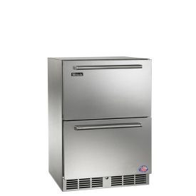 Perlick 24-Inch Signature Series Outdoor Dual Zone Refrigerator / Freezer SS Drawers
