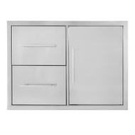 All Pro Standard Double Drawer & Door Storage Combo (SDDDC)