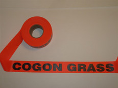 Cogon Grass Flagging Tape