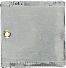 """Double Faced Aluminum Tags, 3"""" x 3"""" - Box of 50"""