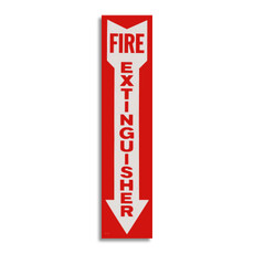 "Self Adhesive Vinyl Fire Extinguisher Sign 4"" x 18"", 418FX"