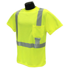 Radians Class 2 High Visibility Safety T-Shirt, Hi-Viz Green - ST11