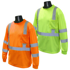 Radians Class 3 High Visibility Long Sleeve Safety T-Shirt, Hi-Viz - ST21