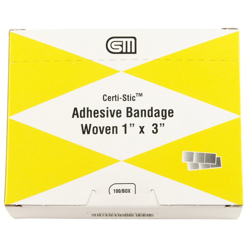 """Certi-Strip Adhesive Bandages, Woven 1"""" x 3"""", 220-205"""