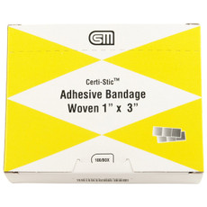 "Certi-Strip Adhesive Bandages, Woven 1"" x 3"", 220-205"