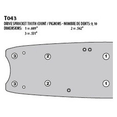 34 In. Harvester Bar for Timbco 34 Inch Saw Heads (34TIMSN)