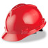 MSA Cap Style Hard Hat (Staz-On Adjustable) Red