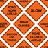 "36"" x 36"" Mesh Safety Signs"