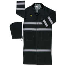 River City Black Flame Resistant Reflective Duster Raincoat, FR267CR