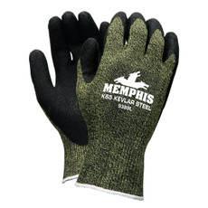 Memphis KS-5 Dupont Kevlar Steel Latex Gloves, 9389