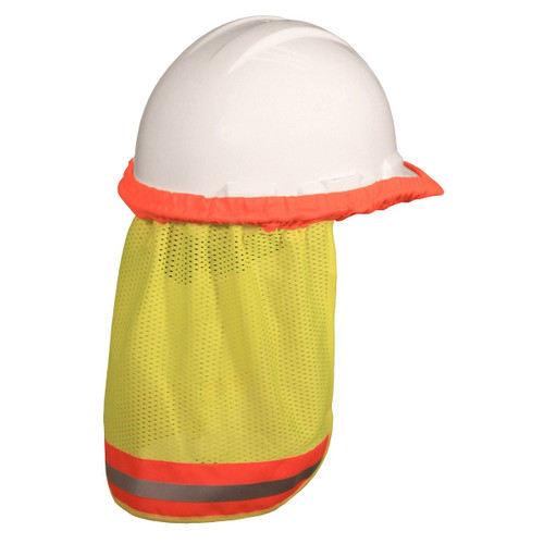 Radians Hi-Vis Hard Hat Neck Sun Shade Green