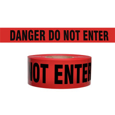 Presco Red Danger Do Not Enter Barricade Tape | B333R21